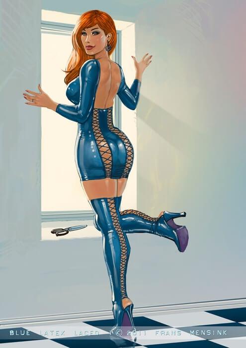 Аниме серия крутых картинок (попы, груди) — Erotic women by Frans Mensink