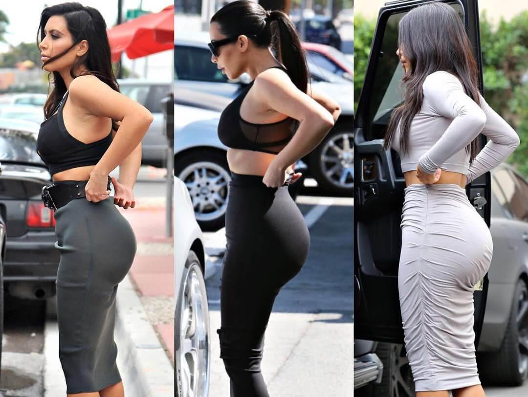 Известная огромная секс попа Ким Кардашьян
