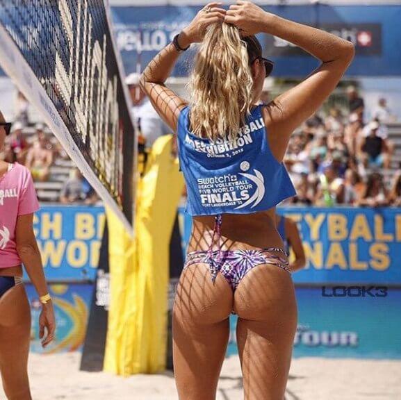 Спортивные секси попки (женский пляжный волейбол)
